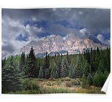 Castle Mountain in Autumn Poster