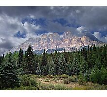 Castle Mountain in Autumn Photographic Print
