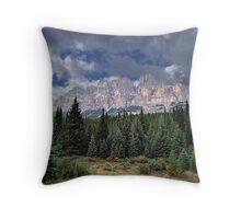 Castle Mountain in Autumn Throw Pillow