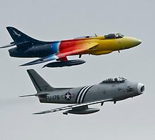 Hawker Hunter and F86 Sabre  by PhilEAF92