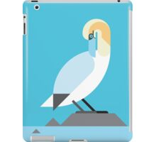 Gannet geometrical vector illustration iPad Case/Skin