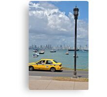 Hey, Taxi Canvas Print