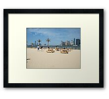 Governors Island, Water Taxi Beach, New York Framed Print