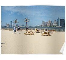 Governors Island, Water Taxi Beach, New York Poster