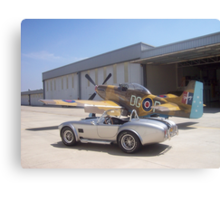 1965 Shelby AC Cobra with P51 Mustang Canvas Print