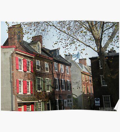 Historic Elfreth's Alley, Philadelphia Poster