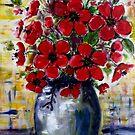 Red Anemones 2 by Angela Gannicott