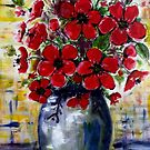 Red Anemones 2 by Angela Gannicott