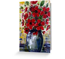 Red Anemones 2 Greeting Card