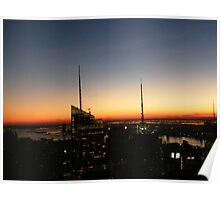 Manhattan At Sunset, As Seen from Top of the Rock Poster