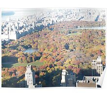 Central Park Fall Colors, Aerial View, Top of the Rock Observation Deck Poster