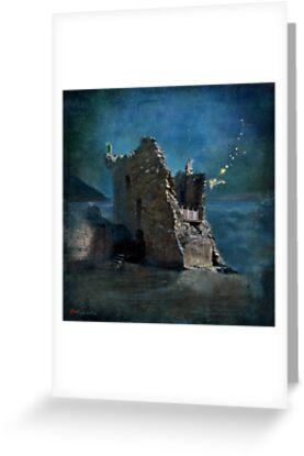 'The Castles Nighttime Secret' by Matylda  Konecka Art