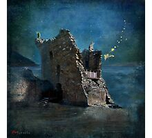 'The Castles Nighttime Secret' Photographic Print