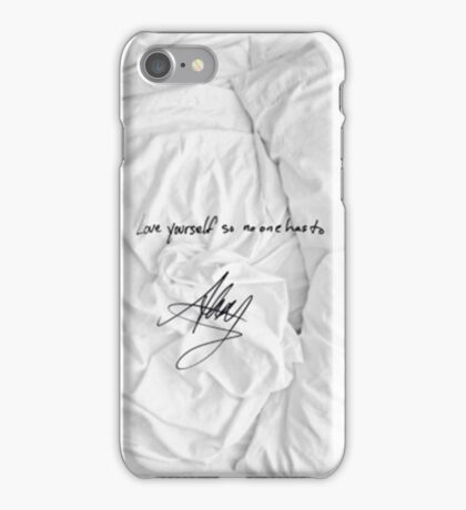 "All Time Low - ""love yourself so no one has to"" signature Alex Gaskarth iPhone Case/Skin"
