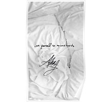 "All Time Low - ""love yourself so no one has to"" signature Alex Gaskarth Poster"