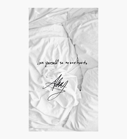 "All Time Low - ""love yourself so no one has to"" signature Alex Gaskarth Photographic Print"