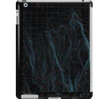 USGS Topo Map Oregon Fandango Canyon 20110829 TM Inverted iPad Case/Skin