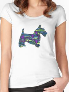 Thistle the Scottish Terrier Women's Fitted Scoop T-Shirt