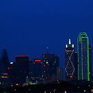 Dallas Texas Skyline at sunset by kellimays