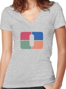 Channel O Women's Fitted V-Neck T-Shirt