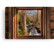 Tub Mill -  Window Canvas Print