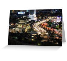 Electric Seoul Greeting Card