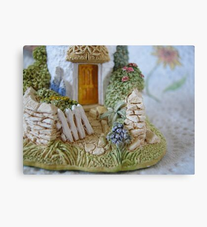 Miniature Cottage Welcome Canvas Print