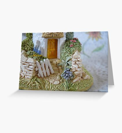 Miniature Cottage Welcome Greeting Card