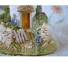 Miniature Cottage Welcome Photographic Print