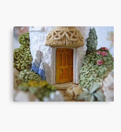 Miniature Cottage threshold Canvas Print