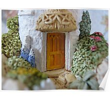 Miniature Cottage threshold Poster