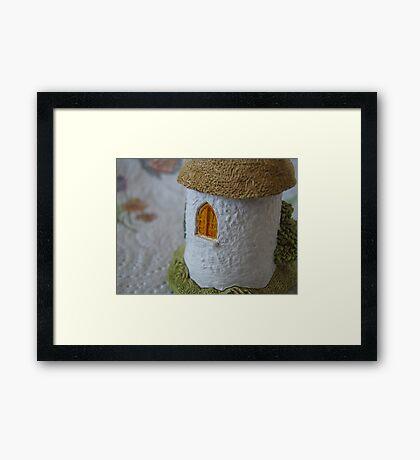 Miniature Cottage _ Shuttered window Framed Print
