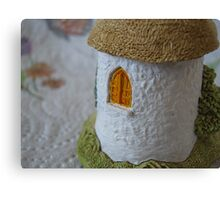 Miniature Cottage _ Shuttered window Canvas Print