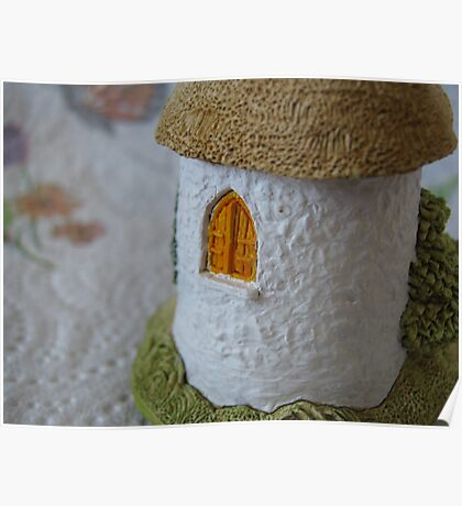 Miniature Cottage _ Shuttered window Poster