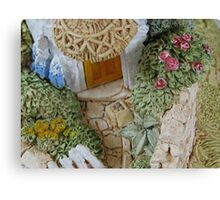 Miniature Cottage _ Garden detail Canvas Print