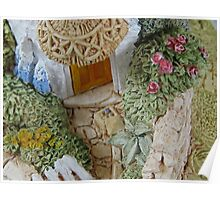 Miniature Cottage _ Garden detail Poster