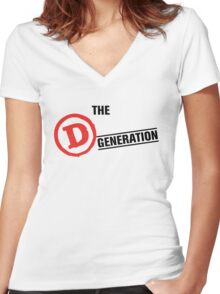 The D Generation Women's Fitted V-Neck T-Shirt