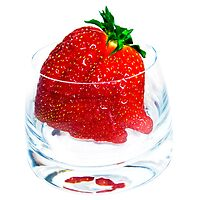 A glass of strawberry, please by Marita Toftgard