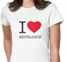 I ♥ ESPERANCE Womens Fitted T-Shirt