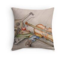 life is full of music  Throw Pillow