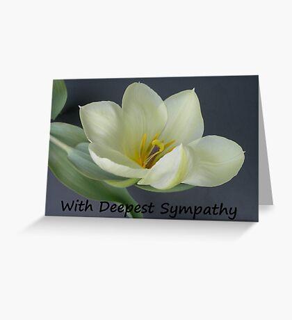 Greeting Card Sympathy white tulip Greeting Card