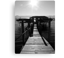 Boatshed Canvas Print