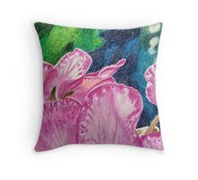 Pink cyclamen Throw Pillow