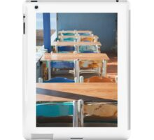 Wooden Table and Chairs iPad Case/Skin