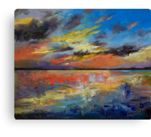 Key West Florida Sunset Canvas Print