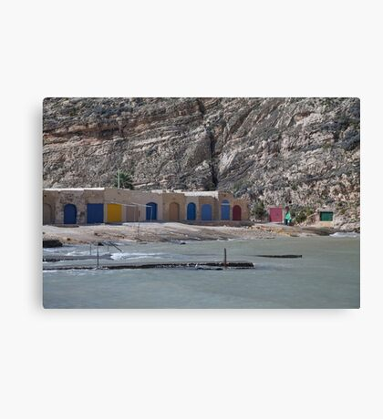 Fishing Harbour Gozo Canvas Print