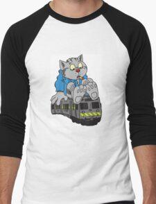 Fritz the Cat Train Men's Baseball ¾ T-Shirt