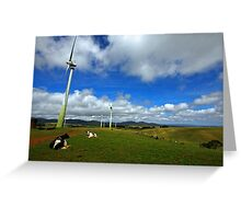 Wind Generation and Nature Greeting Card