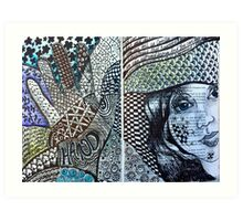 Altered book page - Pattern! Art Print