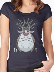 Deer God Totoro Women's Fitted Scoop T-Shirt